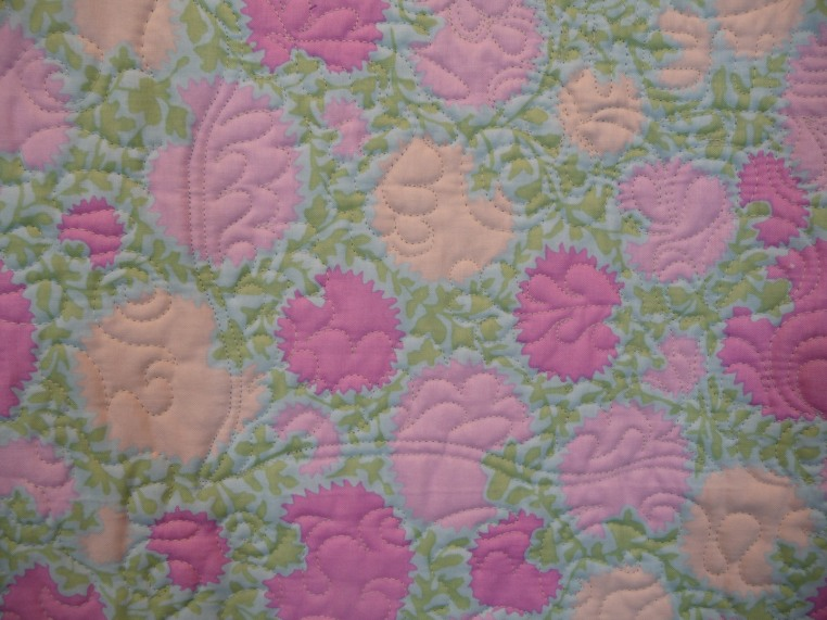 Passion Flowers, Quilting Detail