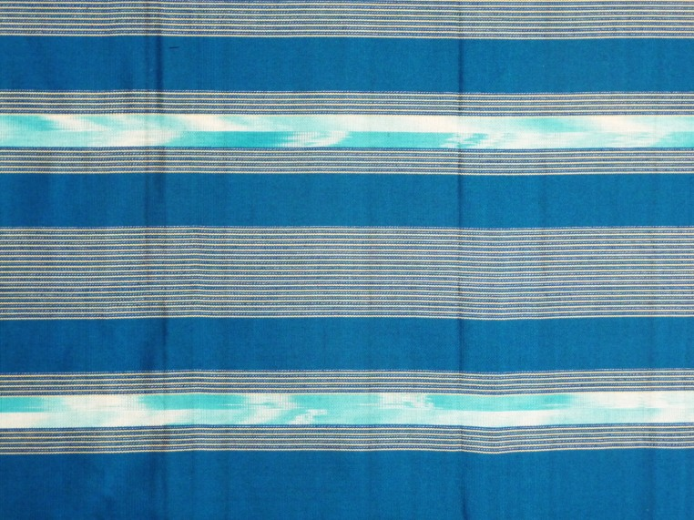 Bright turquoise woven cotton sarong, detail