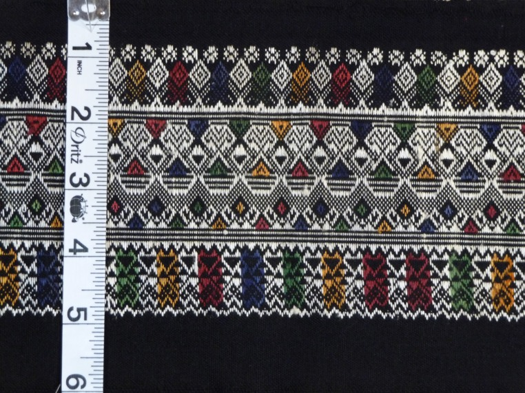 "Cotton and Silk sarong border, 6"" x 65"""