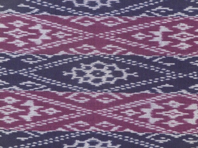 Purple and Blue Ikat, detail