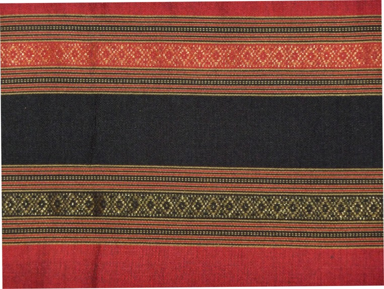 Red, Black, and Gold Sarong, Detail