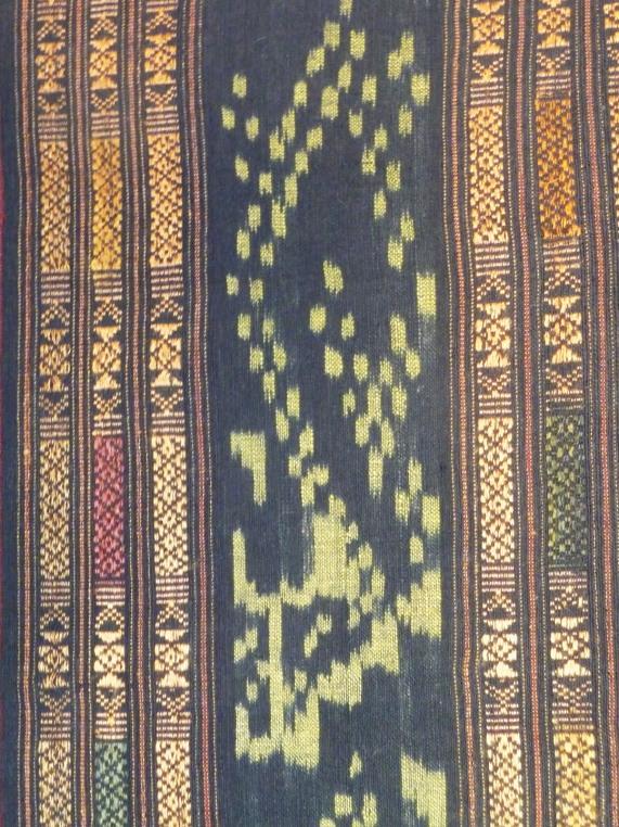 Ikat and woven pattern band sarong, detail