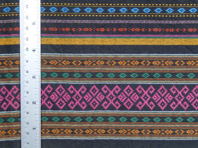 Multicolor diamond pattern sarong, detail of hem