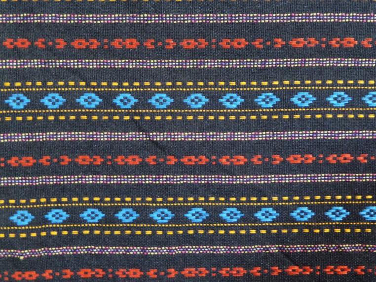 Multicolor diamond pattern sarong, detail