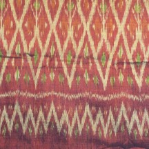 Skirt made from Cotton with Silk Ikat, detail