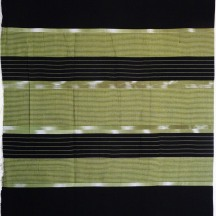 Muted green and black cotton sarong