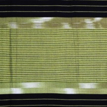 Muted green and black fabric, detail