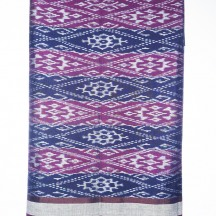 Purple and Blue Ikat
