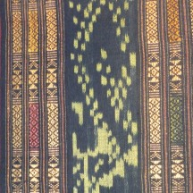 Ikat and woven pattern band sarong, detail