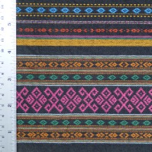 Multicolor diamond pattern sarong, detail of hem